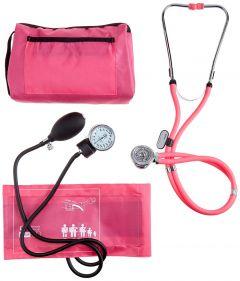 Manuelles Blutdruckmessgerät mit Sprague-Rappaport Stethoskop ST-A056-ROSA