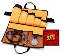 Manuelles Blutdruckmessgerät, Premium-Qualität kit (5 Manschetten), Stethoskop, Reflexhammer, Penlight ST-A81S-SET