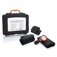 Manuelles Blutdruckmessgerät im stabilen Koffer (5 Manschetten) inkl. Kardiologiestethoskop ST-P96X